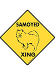 Samoyed Xing (Crossing) Dog Signs and Sticker