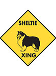 Sheltie Xing (Crossing) Dog Signs and Sticker