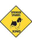 Springer Spaniel Xing (Crossing) Dog Signs and Sticker