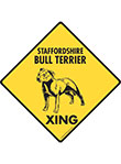 Staffordshire Bull Terrier Xing Signs