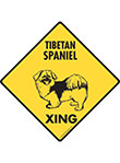 Tibetan Spaniel Xing (Crossing) Dog Signs and Sticker