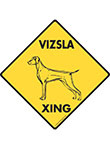 Vizsla Xing (Crossing) Dog Signs and Sticker