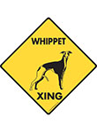 Whippet Xing (Crossing) Dog Signs and Sticker