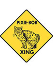 Pixie-Bob Xing (Crossing) Cat Signs and Sticker