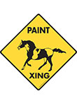 Paint Xing (Crossing) Horse Signs and Sticker