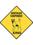 Anatolian Shepherd Xing (Crossing) Dog Signs and Sticker