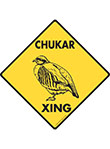 Chukar Xing (Crossing) Bird Signs and Sticker