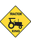 Tractor Xing Signs