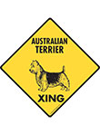 Australian Terrier Xing (Crossing) Dog Signs and Sticker