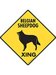 Belgian Sheepdog Xing (Crossing) Dog Signs and Sticker