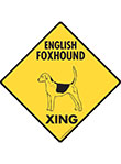 English Foxhound Xing (Crossing) Dog Signs and Sticker