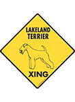 Lakeland Terrier Xing (Crossing) Dog Signs and Sticker