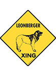 Leonberger Xing (Crossing) Dog Signs and Sticker