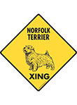 Norfolk Terrier Xing (Crossing) Dog Signs and Sticker