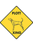 Plott Xing (Crossing) Dog Signs and Sticker