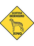 Scottish Deerhound Xing (Crossing) Dog Signs and Sticker