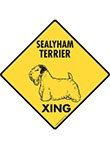 Sealyham Terrier Xing (Crossing) Dog Signs and Sticker