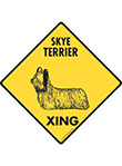 Skye Terrier Xing (Crossing) Dog Signs and Sticker