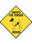 Smooth Fox Terrier Xing (Crossing) Dog Signs and Sticker