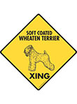 Soft Coated Wheaten Terrier Xing (Crossing) Dog Signs & Sticker