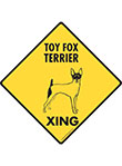 Toy Fox Terrier Xing Signs