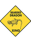 Bearded Dragon Xing (Crossing) Reptile Signs and Sticker