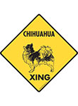 Chihuahua (Long Hair) Xing Signs and Sticker