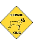Boerboel Xing (Crossing) Dog Signs and Sticker
