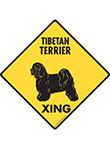 Tibetan Terrier Xing (Crossing) Dog Signs and Sticker