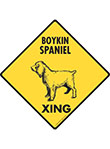 Boykin Spaniel Xing (Crossing) Dog Signs and Sticker