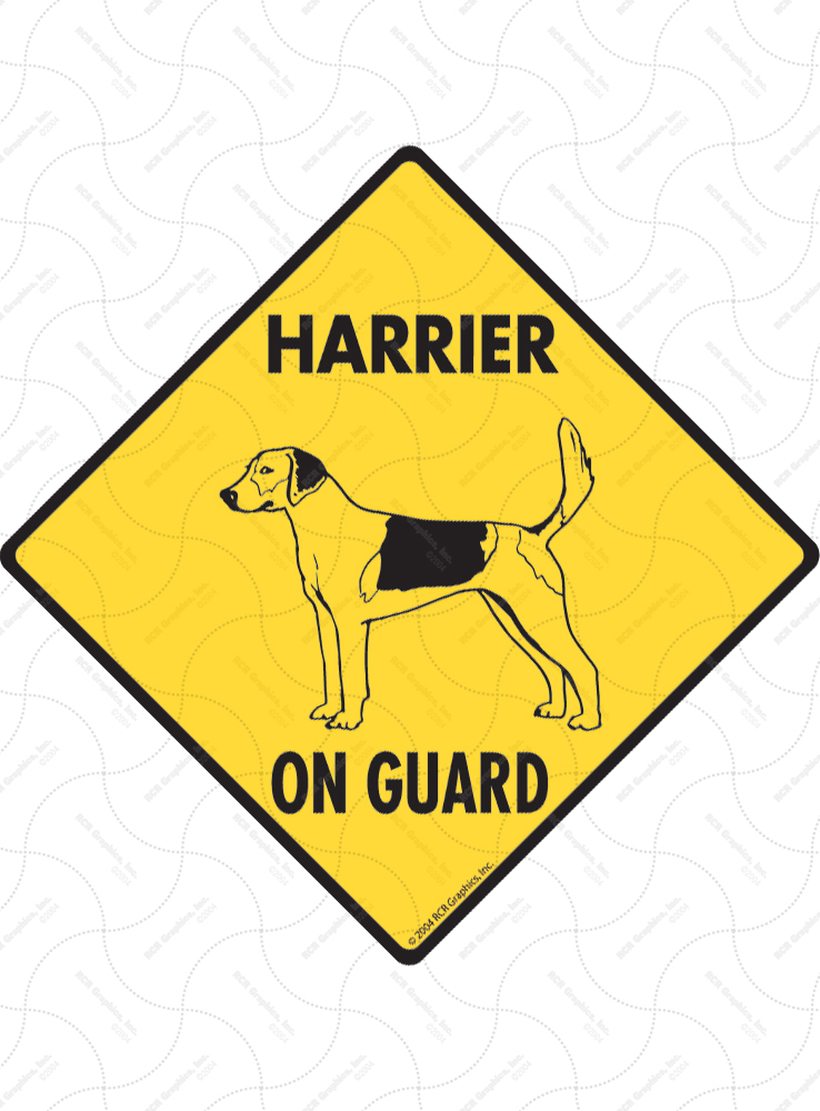 Harrier On Guard Dog Signs and Sticker