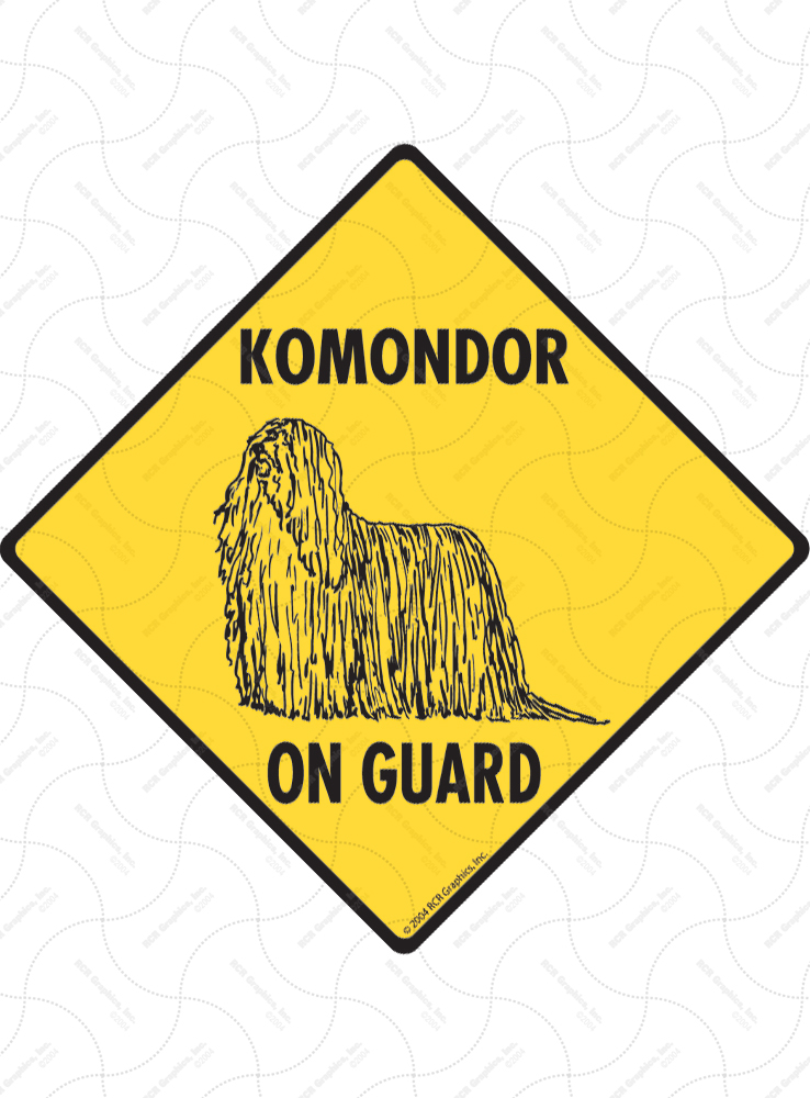 Komondor On Guard Dog Signs and Sticker