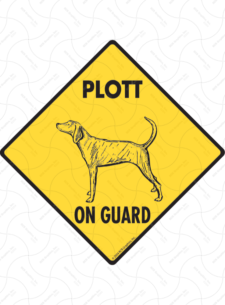 Plott On Guard Dog Signs and Sticker