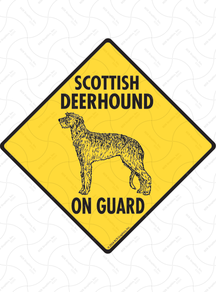 Property protected by Scottish Deerhound dog with attitude metal aluminum sign