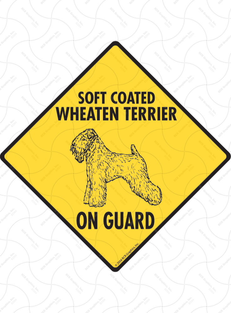 Soft Coated Wheaten Terrier On Guard Signs and Sticker
