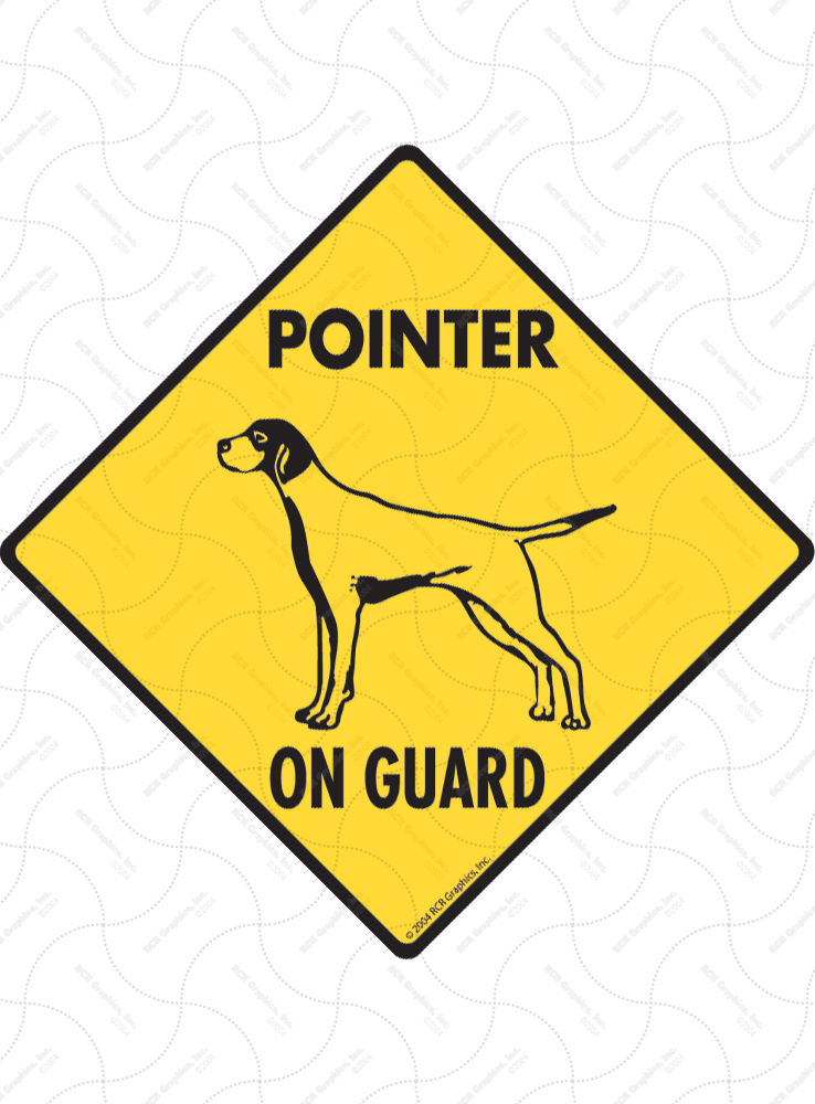 Pointer On Guard Dog Signs and Sticker