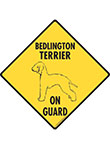 Bedlington Terrier On Guard Signs