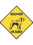 Bouvier des Flandres On Guard Dog Signs and Sticker