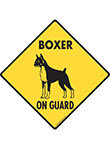Boxer On Guard Signs