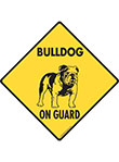 Bulldog On Guard Dog Signs and Sticker