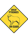 Great Pyrenees On Guard Signs