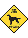 Irish Setter On Guard Dog Signs and Sticker