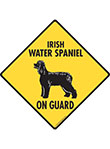 Irish Water Spaniel On Guard Signs