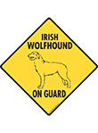 Irish Wolfhound On Guard Dog Signs and Sticker