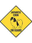 Japanese Chin On Guard Dog Signs and Sticker