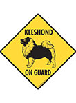 Keeshond On Guard Dog Signs and Sticker