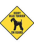 Kerry Blue Terrier On Guard Dog Signs and Sticker
