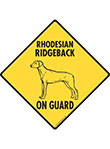 Rhodesian Ridgeback On Guard Dog Signs and Sticker