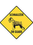 Schnauzer On Guard Dog Signs and Sticker