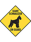 Giant Schnauzer On Guard Dog Signs and Sticker